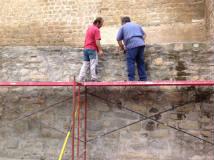 Comienzo del desmontaje del muro en Septiembre por encontrarse desplazado 20 cms