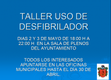 TALLER USO DE DESFIBRILADOR