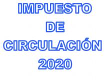 AVISO COBRO IMPUESTO DE CIRCULACION 2020